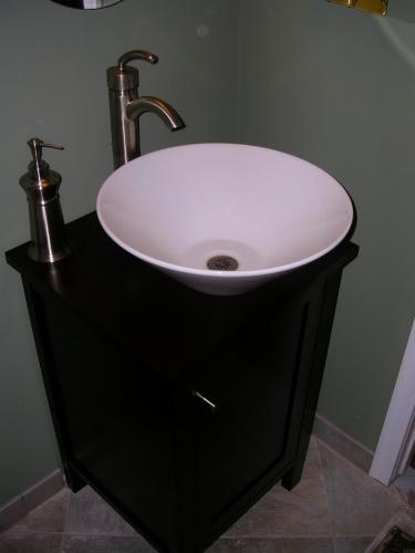 "alt=""Cherry Hill contractors new bathroom sink"""