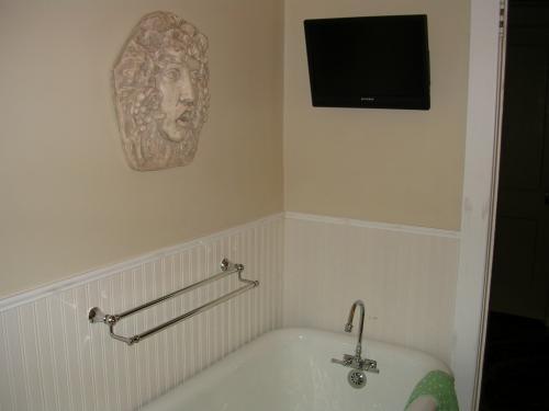 "alt=""New bathroom sink with hand railing"""