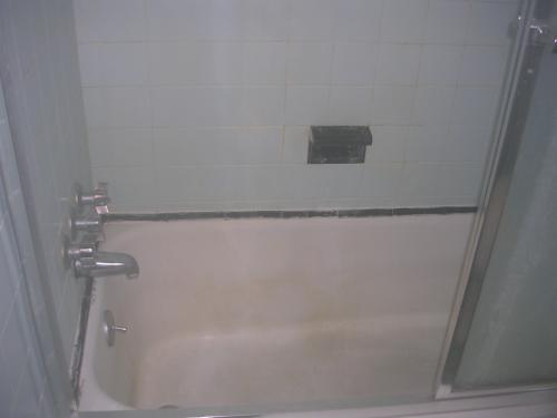 "alt=""New pink bathtub by Collingswood builders"""